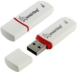 USB 8GB Smart Buy Crown White SB8GBCRW-W